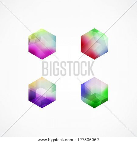 Business Design elements logotype ( icon ) set for print and web. vector