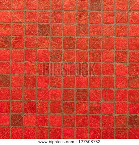 Rad vintage mosaic wall texture and background
