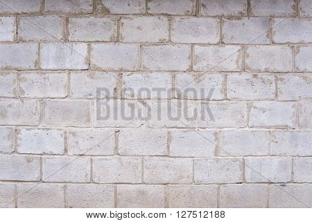 Vintage white brick wall background, brick wall for background texture