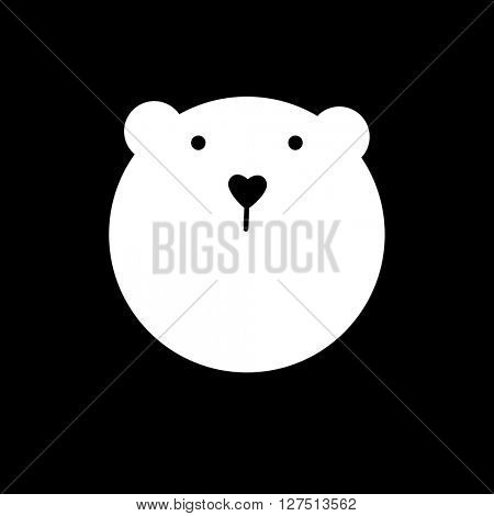 White polar bear. White bear mascot idea for logo, emblem, symbol, icon.  Vector illustration