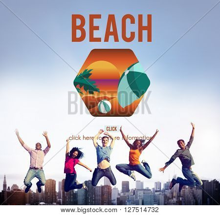 Sea Beach Rest Relax Holidays Concept