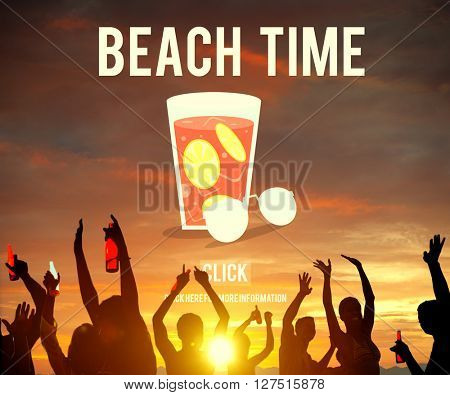 Beach Time Vacation Holidays Concept