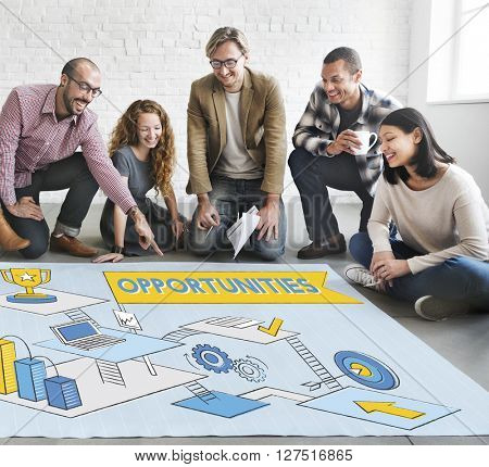 Opportunities Strategy Development Target Goals Concept