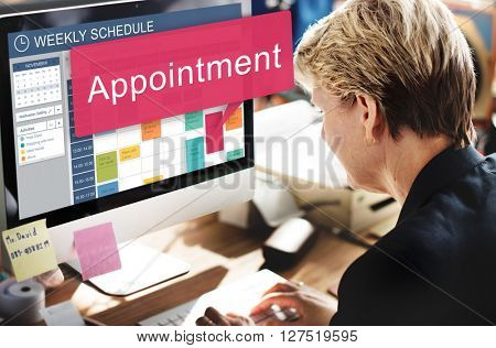 Appointment Schedule Meeting Plan Arrangement Concept
