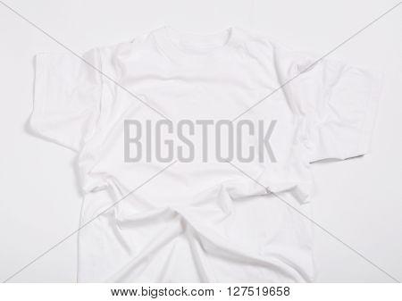 White shirt on a white background
