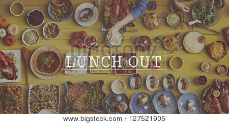 Lunch Out Take Away Meal Concept