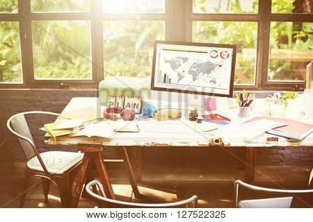 Plan Strategy Vision Global Business Planning Concept