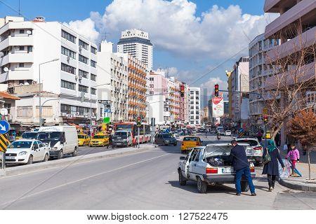 Street View Of Modern Izmir City