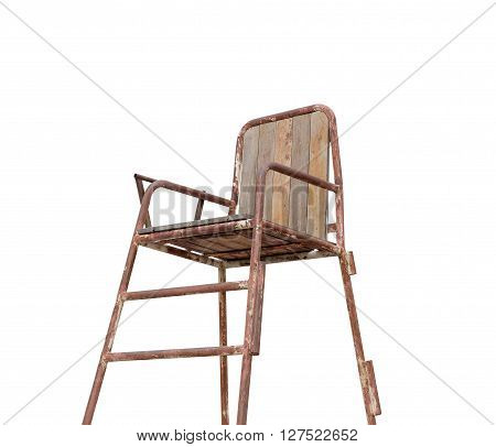 Umpire seat isolated on white background with clipping path
