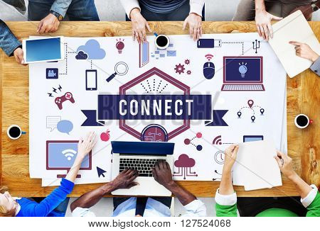 Big Data Connect Technology Gadget Concept