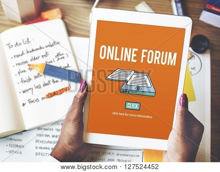 Online Forum Discussion Assembly Information Concept