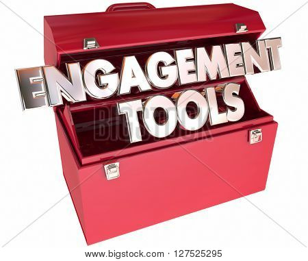 Engagement Tools Toolbox 3d Words Interaction Participation Communication