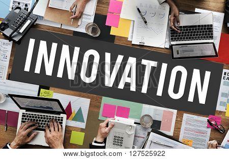 Innovation Creativity Development Futuristic Concept