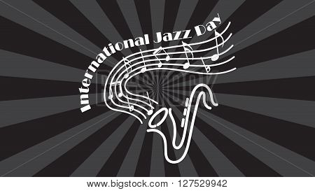 International jazz day poster. Retro style jazz day. Vector jazz day background. International jazz day vector poster.