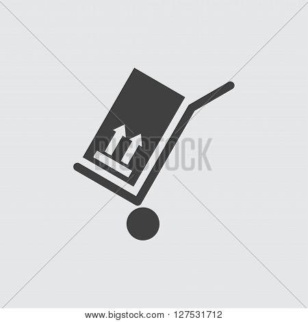 Hand cart icon illustration isolated vector sign symbol
