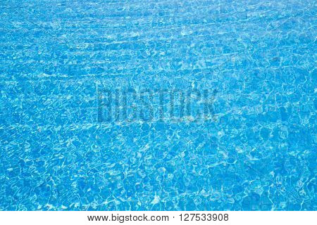 Blue  water with sun reflections