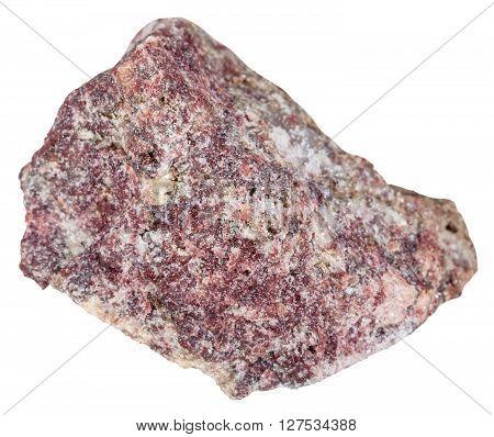 Pink Dolomite Stone Isolated On White