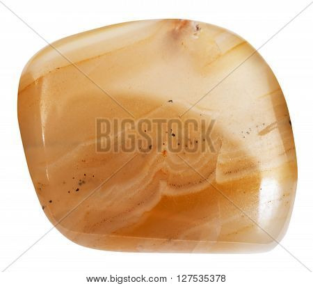 Polished Banded Yellow Agate (chalcedony) Gemstone