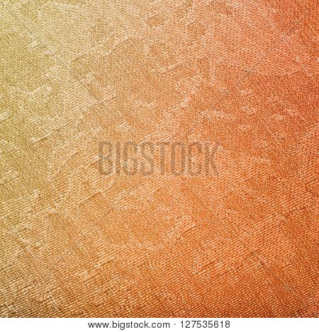 Textile Background - Yellow And Red Painted Fabric