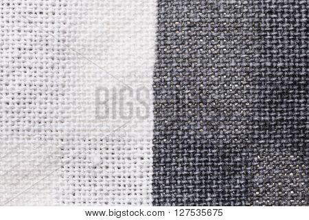 Textile Background - White And Gray Cotton Fabric