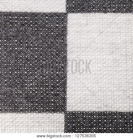 Square Textile Background - Plaid Cotton Fabric