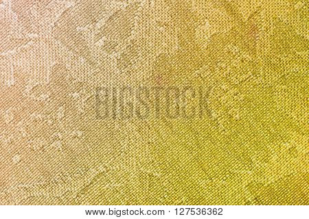 Textile Background - Brown And Yellow Silk Fabric