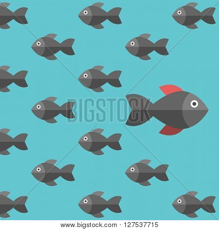 Fishes, Being Different Concept