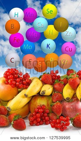 image of fresh organic fruits and berries close up