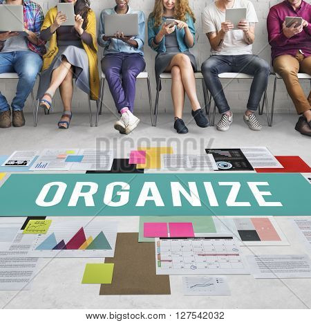 Organize Notice Project Schedule Style Vision Concept