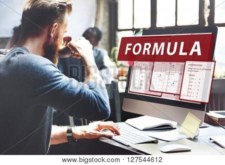 Formula Mathematics Calculation Chart Concept