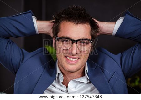 Businessman relaxing at the coffee shop
