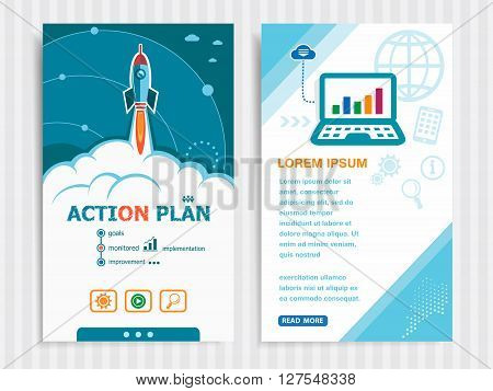 Project Action Plan Concepts And Set Of Banners.
