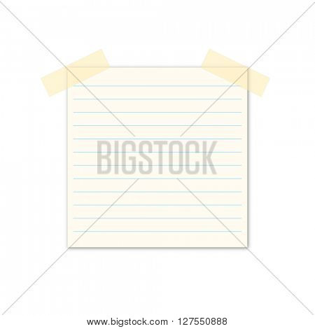 notepad notebook isolated on white