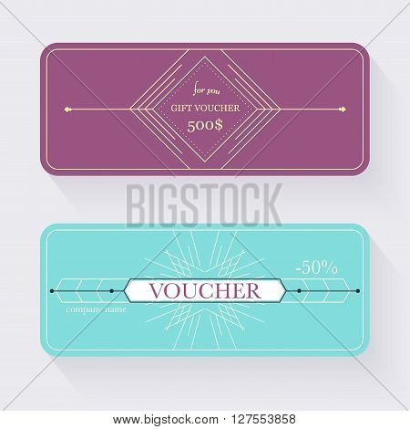Gift Voucher Template. Gift Certificate. Background Design Gift Coupon, Voucher, Certificate, Invita