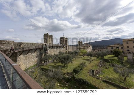 View From The Wall Of Monteriggioni