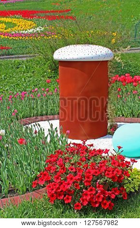 KYIV, UKRAINE- MAY 1, 2013: Annual traditional flower exhibition
