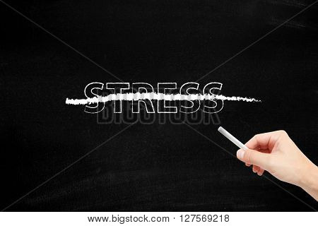 Stress written with chalk