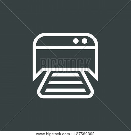 Printer Icon In Vector Format. Premium Quality Printer Symbol. Web Graphic Printer Sign On Dark Back