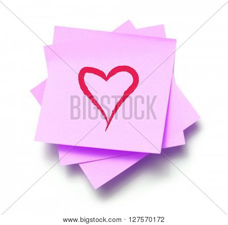 Love on a sticky note