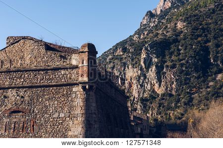Fort Liberia. Villefranche-de-conflent In The Pyrenees-orientales In France. Unesco World Heritage S