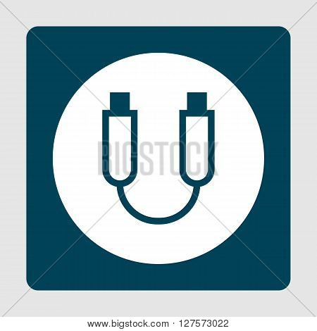 Usb Cable Icon In Vector Format. Premium Quality Usb Cable Symbol. Web Graphic Usb Cable Sign On Blu