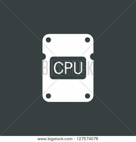 Cpu Icon In Vector Format. Premium Quality Cpu Symbol. Web Graphic Cpu Sign On Dark Background.