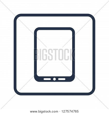 Tablet Icon In Vector Format. Premium Quality Tablet Symbol. Web Graphic Tablet Sign On Blue Round B