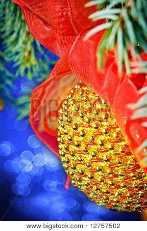 Cerrar vista de la decoración de Navidad de color