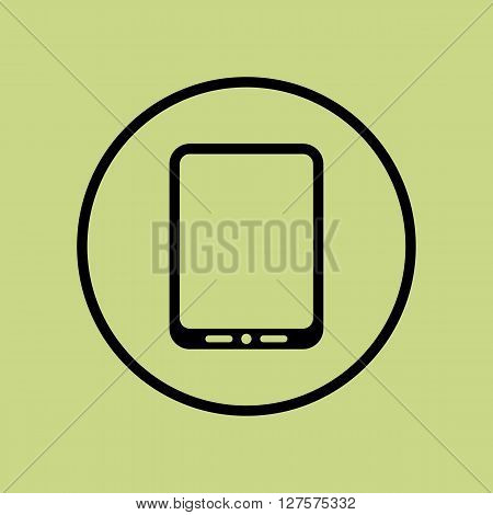 Tablet Icon In Vector Format. Premium Quality Tablet Symbol. Web Graphic Tablet Sign On Green Circle