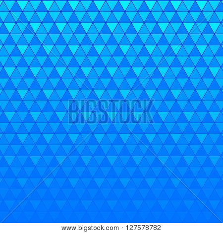 Abstract background blue continuous triangle geometry element vetor illustration
