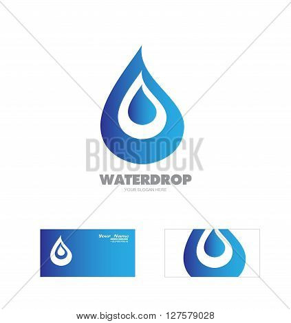 Vector company logo icon element template waterdrop logo