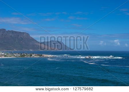 Cape Point protrudes into the ocean along the beaches of Cape Town South Africa