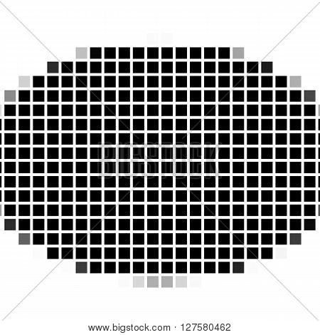 Ellipse. The Simple Geometric Pattern Of Black Squares With Shadowed Frame. Set Of Dot Patterns. Hal