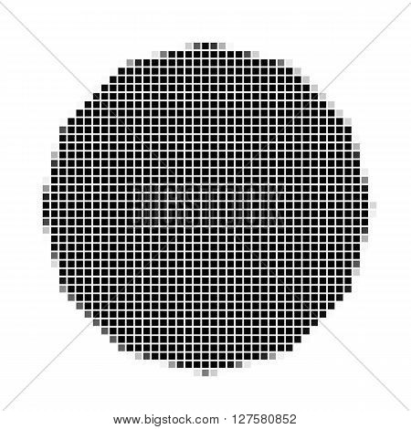 Dodecagon. The Simple Geometric Pattern Of Black Squares With Shadowed Frame. Set Of Dot Patterns. H